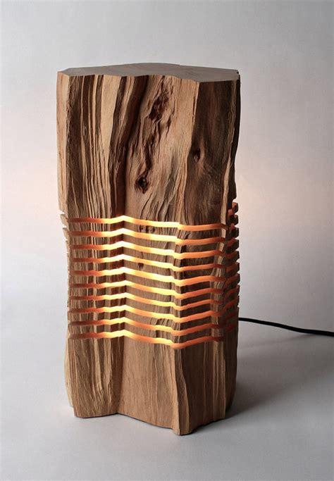 unique lighting wood sculpture home decorating trends