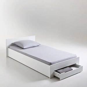 Lit 1 Place Adulte : lit 1 place avec sommier et tiroir crawley dans chambre adulte achetez au meilleur prix avec ~ Nature-et-papiers.com Idées de Décoration