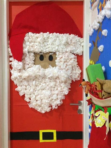 diy santa claus classroom door santa claus door classroom decor preschool cool door decorations