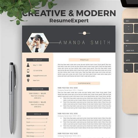 Cv Template Design by Professional Resume Template Bundle Cover Letter Cv