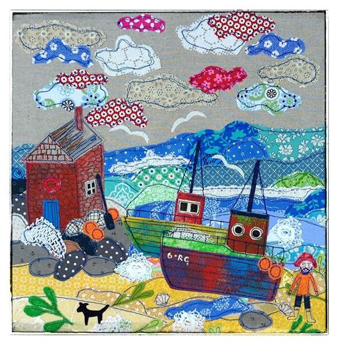 Fishing Boat Quilt by Fishing Boats Appliqu 233 Picture By Levenson