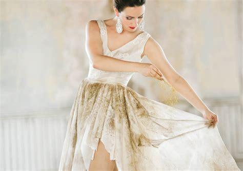 glitter bridaltrash  dress shoot rock  roll bride