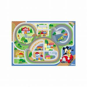 tapis enfant mickey on the road 100x170 waltdisney achat With tapis enfant avec canapé steiner occasion