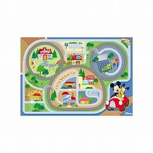 tapis enfant mickey on the road 100x170 waltdisney achat With tapis enfant disney