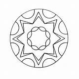 Mandala Kleurplaten Kaleidoscope Coloring Kleurplatenpagina Kleurplaat Books Boordevol Coole sketch template