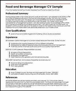 sample resume for food and beverage supervisor resume ideas With sample resume for food and beverage supervisor