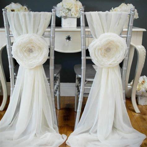 diy wedding chair sashes for your wedding easy tutorial