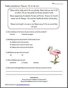 reading and comprehension reading comprehension 39 s trip to the zoo comprehension reading comprehension and