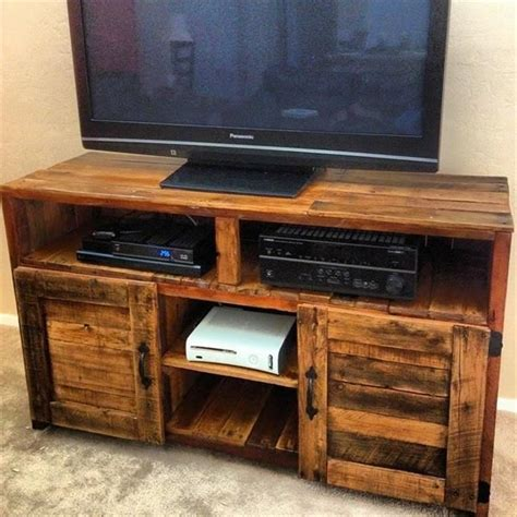 pallet tv stand plans woodworking projects plans