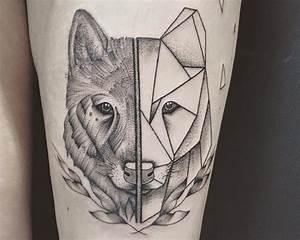 Loup Tatouage Geometrique : 10 tatoueurs conna tre sur lyon tatouage loup pinterest tatoueur lyon et tatouages ~ Melissatoandfro.com Idées de Décoration