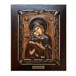 Icon Wood Mary Virgin Carved Icons Wooden