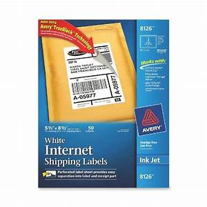 avery 8126 55 x 85quot inkjet white internet shipping With avery internet shipping labels