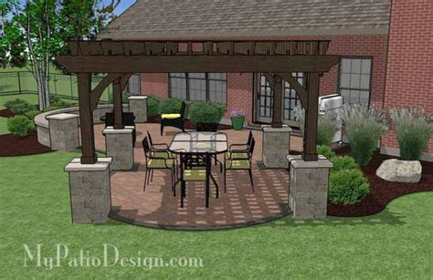 my patio design concrete paver patio design with pergola plan