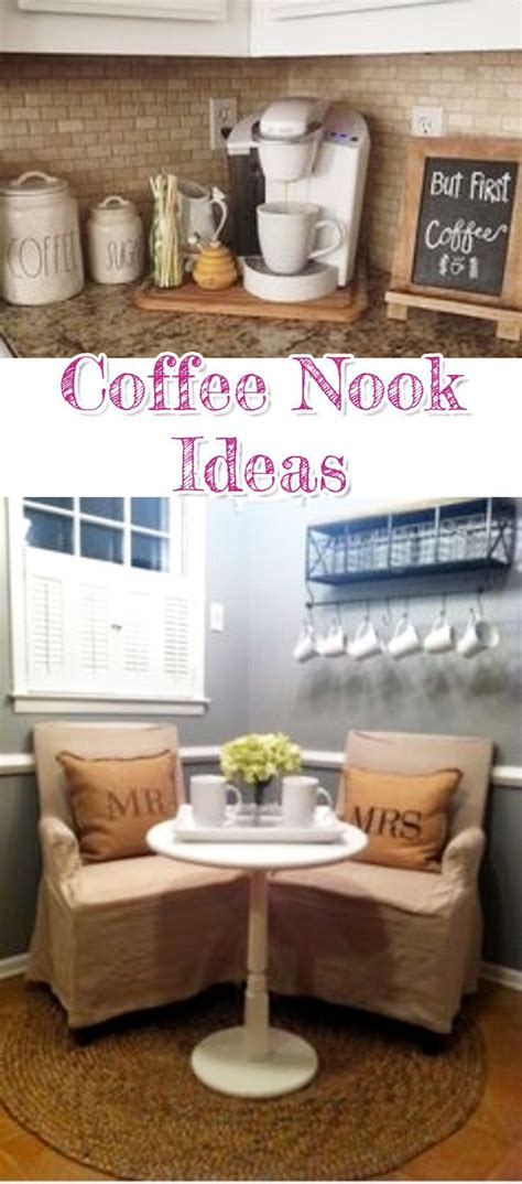 Cafes and coffee shops struggle with making the most of their real estate. DIY Coffee Bar Ideas - Stunning Farmhouse Style Beverage Stations for Small Spaces and Tiny ...