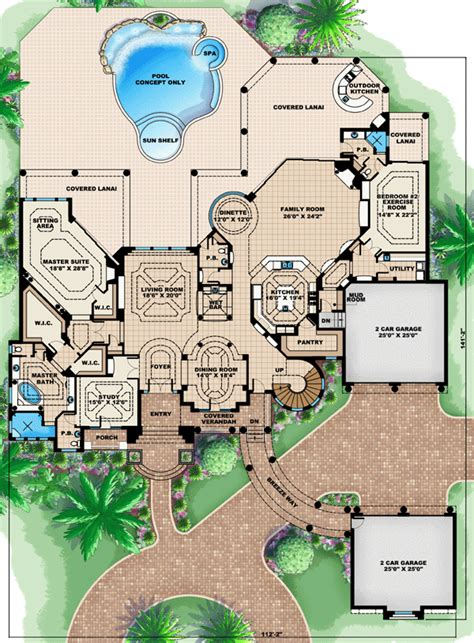 mediterranean house plan 64695 mediterranean house plan 60484 at familyhomeplans Florida