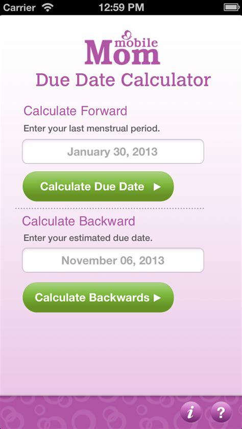 pregnancy due date calculator baby wheel countdown birth
