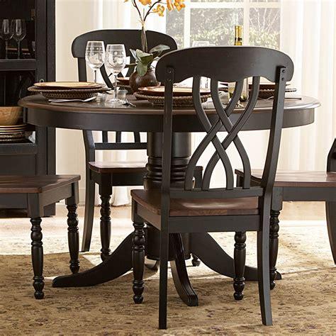 ohana black  dining room set casual dinette sets