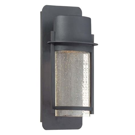 modern outdoor wall light with clear glass in black finish