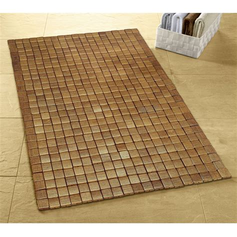 Large Bathroom Mat Uk by Kleine Wolke Mosaic Wood Bath Mat 500 X 700mm Brown