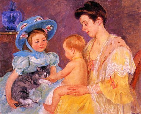 children with a cat 1908 cassatt wikiart org
