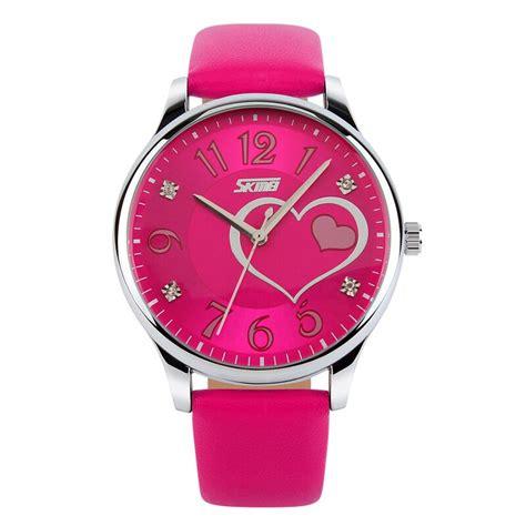 skmei jam tangan analog skmei jam tangan analog wanita 9085cl pink