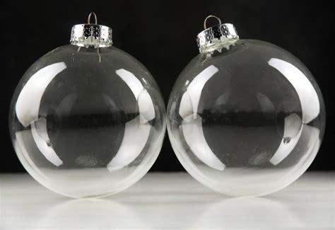large  clear glass ornament balls mm