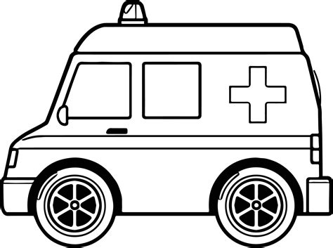 midi ambulance coloring page wecoloringpagecom