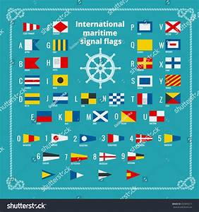 international maritime signal flags sea alphabet stock With sea flags letters
