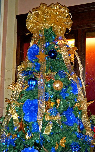 blue and gold christmas trees blue and gold tree flickr photo