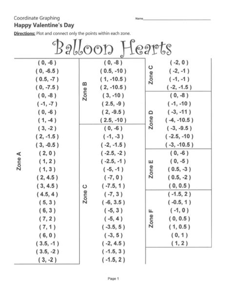 Coordinate Plane Valentines Day  Search Results  Calendar 2015