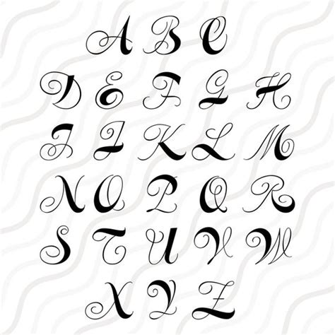 curls monogram font svg cricut monogram font svg monogram