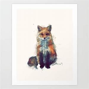 Fox Art Print by Amy Hamilton
