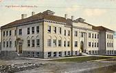 Scottdale Pennsylvania High School Street View Antique ...