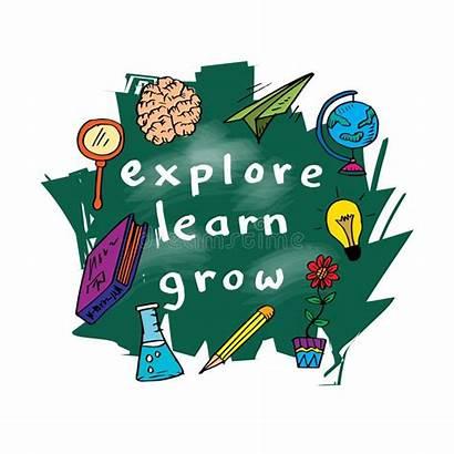 Learn Grow Inspirational Imparano Citazione Groeien Leren