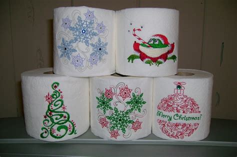 embroidery  toilet paper  gifts