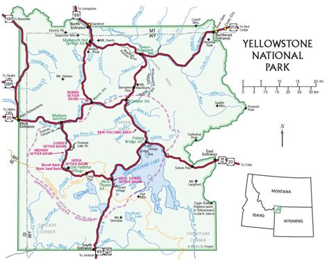 yellowstone national park map yellowstone treasures