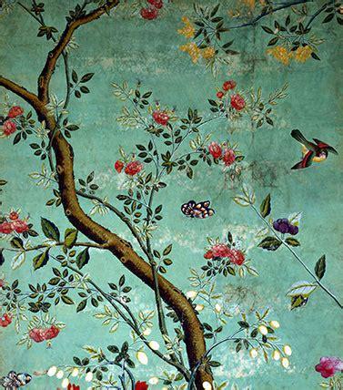chinese wallpaper  flowering shrubs  bees custom