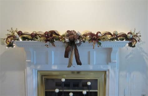 mantle garland with lights christmas garland lighted swag mesh mantel wall bronze