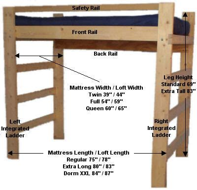 loft bed plans college  woodworking
