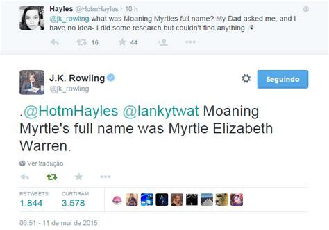 Elizabeth Warren Curriculum Vitae by 187 Rowling Revela O Nome Da Murta Que Geme 187 O Caldeir 227 O Saltitante 187 The Hopping Pot