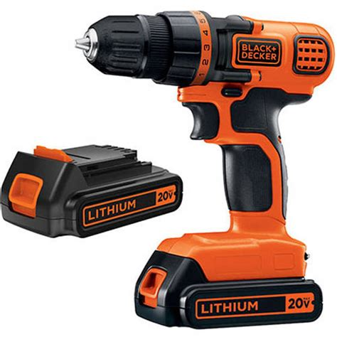 black decker  lithium compact cordless drill