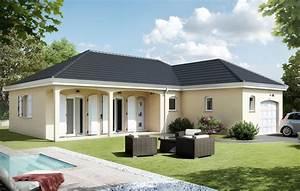 modele meniliere plan de maison de plain pied 100m2 du With charming plan de maison 2 pieces 4 maison babeau seguin