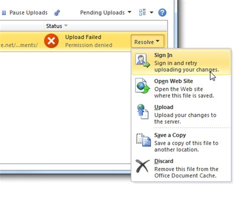 Office Upload Center by Manage Sending 2010 Documents To The Web With Office