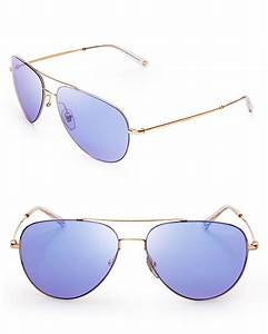 Gucci Mirrored Aviator Sunglasses in Gold (Gold Copper) | Lyst