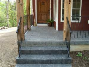 Stamped Concrete Gallery Mountain View Concrete Front Porch Ideas Style For Ranch Home