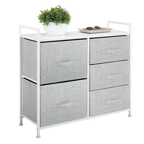 Small Narrow Drawer Unit by Mdesign Fabric Narrow 5 Drawer Dresser And Storage