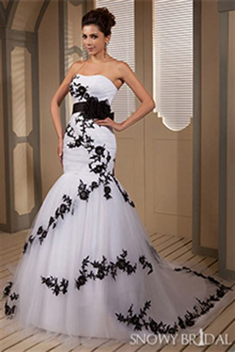 black and white wedding dresses black and white bridal gowns snowybridal