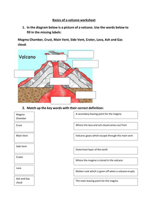 pictures volcanoes worksheets getadating