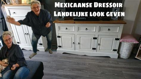 kast oude look geven dressoir een landelijke look geven kast pimpen bewerken
