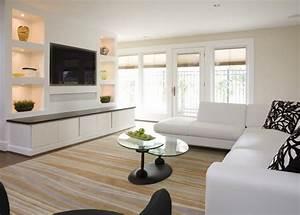 Wandregal Für Fernseher : moderne wohnwand mit led beleuchtung 55 ideen ~ Michelbontemps.com Haus und Dekorationen